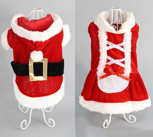 5 Size Christmas dog transformed dress santa suit classic Euramerican pet dog Christmas clothes pets supplies wholesale