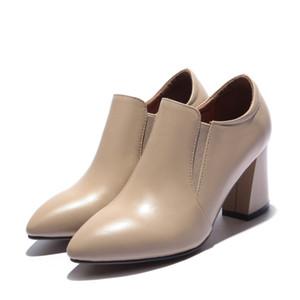 مضخات حذاء امرأة جلد طبيعي أزياء المرأة الجديدة 39 40 41 42 ارتفاع كعب حجم 7.5CM EUR 33-43