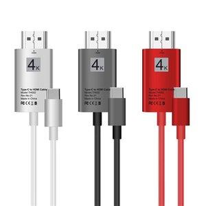 10 teile / los USB Typ C zu HDMI USB 3.1 Adapter Datenübertragung Verlängerungskabel 4 Karat für Handy S8 HD Kabel 2 Mt