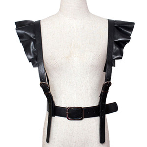 2017 hot new Personality Spallacci Cintura sexy Faux Leather Body Bondage Corsetto femminile Harness Waist Belt Straps Bretelle