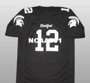 Hommes # 12 Andrew Luck Stratford lycée College Jersey taille s-4XL ou personnalisé tout nom ou numéro maillot