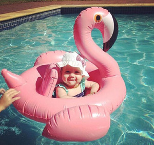 Baby Swimming Seat ring Inflatable flamingo Pool Float Baby Summer Water Fun Pool Toy swan flamingo Kids Swimming pool floats