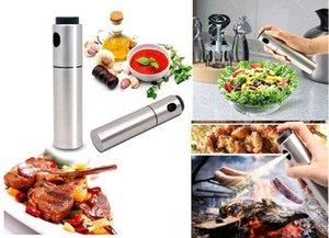 Accesorios de cocina Acero inoxidable de plata Contenedor de especias Aceite de oliva Rociador de vinagre Botella de pulverización Herramienta de cocina de barbacoa