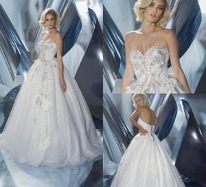 2019 Dany Mizrachi пляж свадебные платья милая кружева 3D цветочные аппликация бисер Rhinstones свадебные платья линия страна свадебное платье