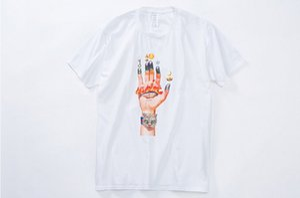 Мужская Летняя Одежда Футболки Мужской Палец Ручной Печати Прохладный Тис Хип-Хоп Рок Топы