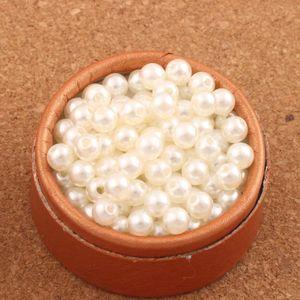 2000pcs / lot 6mm Elfenbein-runde Perle Charrm Korn-Acryl lose Korn-Plastikabstandhalter L3121 heißer Schmucksachen diy