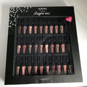 NYX soft Lingerie lipstick mini 30 color LIQUID SUEDE CREAM VAULT lingerie vault Velvet Lip Makeup DHL free shipping