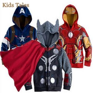 giacca primavera e autunno per i ragazzi Spiderman Vendicatori Iron man giacca con cappuccio caldo cappotto della tuta sportiva della chiusura lampo dei bambini Commercio all'ingrosso della fabbrica