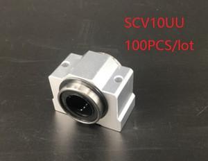 100pcs lot SCV10UU SC10SUU 10mm shorter linear case unit linear block bearing blocks for cnc router 3d printer parts