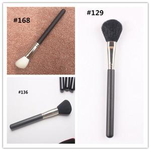 IN STOCK!!Hot Brand M Makeup brush #129 #136 #168 Large Powder Blusher Brush Soft Hair Black Handle makeup tools Top Qualiry DHL shipping