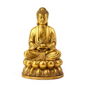 Merci Fengshui Meditando la statua del Buddha, la figurina di Buddist Sakyamuni per la benedizione di felicità e buona fortuna, belle decorazioni artigianali in ottone