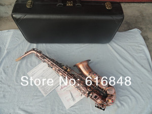 Unique Red Archaize Copper Alto Saxophone Eb Tune High-quality Musical Instruments E Flat With Case Mouthpiece Free Shipping