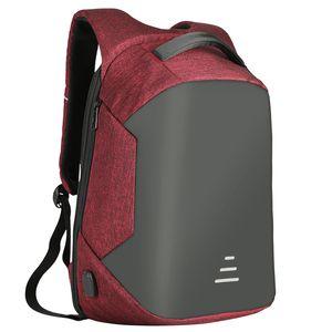 Anti-Theft Männer / Womens Laptop Notebook Rucksack + USB-Aufladung Business School Bag