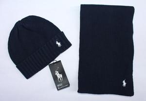 Conjuntos de chapéu e lenço de inverno marca para homens mulheres quentes designer de malha gorros cachecóis e conjuntos de chapéus 2019
