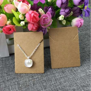 100pcs lot Card Kraft Cards Necklace Pendant Display Jewelry Cards 5x7cm for jewelry Paper Packing accessory Ghbuw