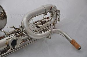 Germania Esecuzione Professionale Nickel Ebano Bariton Saxophone Tube Tube Sax E Flat With Case Spedizione gratuita