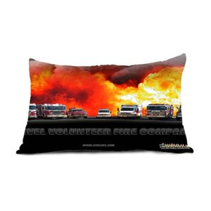 Babaite Mt Firefighter Fireman Fire Rescue Together Pillowcase Invisible Zippered Twin Sides Printing Throw Pillow Case Cover