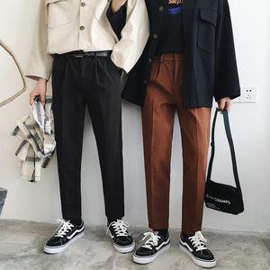 Mens Suit Pants Wool 2018 Autumn Winter Warm Casual Pants Neutral Men Women British Korean Woolen Suit Haren Loose