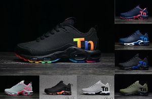 2019 Off New Black Rainbow Air Mercurial Plus Tn Ultra SE КПУ Белые кроссовки Повышенная вентиляция Тренеры Chausseures Дизайнерская обувь