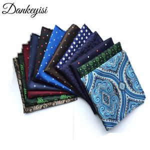 Cravate cravate de foulards pour hommes Vintage Floral Print mouchoirs de poche pour hommes 's 25 * 25 cm Hanky Party de mariage