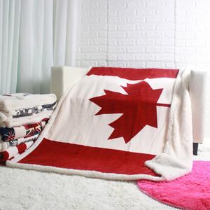 Manta nuevo diseño de doble capa gruesa EE.UU. EEUU Reino Unido Inglaterra bandera británica paño grueso y suave de la felpa de la piel de imitación Sofá regalo tiro Mantas 130x160cm