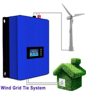 MPPT 2000W Onduleur de réseau d'énergie éolienne avec contrôleur / résistance de charge de décharge pour générateur d'éolienne de 45-90v triphasé LLFA
