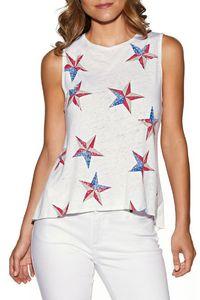 Magliette semplici delle magliette degli Stati Uniti Stelle Magliette stampate delle magliette delle donne semplici di Tops dell'estate