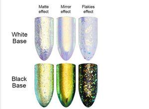 Caméléon Chaud Neon Nail Glitter Mirror Iridescent Nail Sequins AB Couleur Chrome Nail Art Pigment pour UV Gel Polish