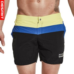 Calções de praia mens troncos de natação malha liner board curto nylon cintura elástica swimwear homens bermudas de sungas praia surf plavky