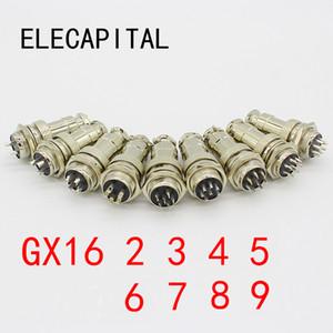 GX16-2 / 3/4/5/6/7/8/9 Pin Männlich Weiblich Durchmesser 16mm Wire Panel Stecker GX16 Rundsteckverbinder Aviation Buchse Stecker