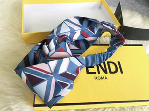 Mode 100% Soie Croix losange imprimer Bandeau Star Hairband Pour Femmes Fille Rétro Turban Headwraps Cadeaux Livraison Gratuite