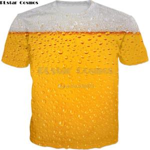 PLstar Cosmos Drop shipping 2018 лето новый стиль мода женщины мужчины футболка пиво пузырь 3D печати повседневная прохладный футболка