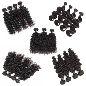 Cheaper Malaysian Virgin Human Hair Straight Body Wave Deep Wave Water Loose Wave 5 6 piece Brazilian Remy Human Hair Wefts 50g pcs