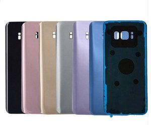 100pcs New Rear Back Glass Housing Cover Battery Door Case For Samsung Galaxy S8+ S8 Plus G955 G955F G955U G950F G950 with sticker Adhesive