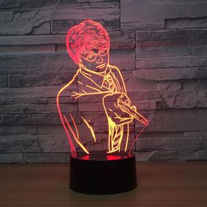 Harry Potter 3D-Nachtlicht Hogwarts Verfärbungs Magic School LED-Lampe Luminaria Schlafzimmer-Dekor Linternas RGB Tabelle Großhandelsdropshipping