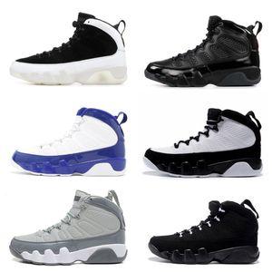 Zapatos de baloncesto Classic 9 Space Jam 9s criados cool gris negro blanco antracita azul amarillo PE Sports Shoes hombres con Box US8-13