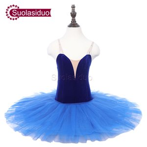 Children Blue Classical Stage Ballet Tutu Apperal Girls Black Professional Ballet Dance Costumes Kids Ballet Skirt Adult Dancewear