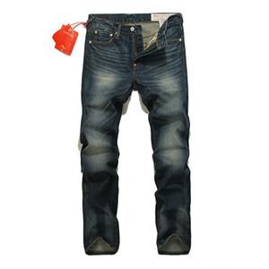 2019 Herren Designer Jeans Four Seasons Large Size Herren Straight Jeans Washed Scrub Vintage Old Hose Stickerei Hose Herrengröße 28-38