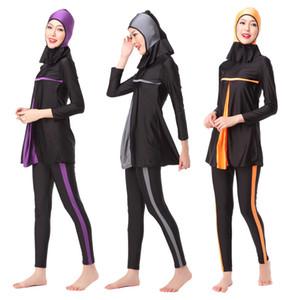 Новые Swimsuit Мусульманские Длинные Burkinis Плавательные Одежда Женская одежда Новая исламская Swim мусульманская полное покрытие Консервативная рукава Csfvg