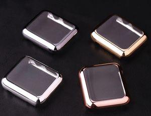 Novo Luxo Blowout Prevenção de ouro 18K Assista caso capa protetora de habitação para Apple Watch iWatch G1 38 milímetros Series 42 milímetros 2