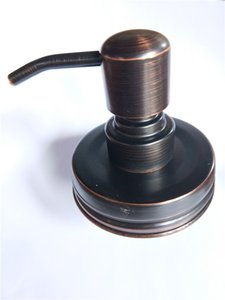 Yüksek Kalite ORB Finish Pas geçirmez 304 Paslanmaz Çelik Sabun Pompası Kapak DIY Mason Round Top Sabun Dispenser- YOK Kavanozlar Jar