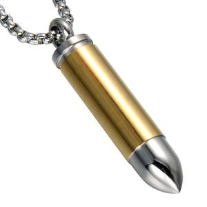 Moda in acciaio inox Gioielli tubo cremazione Ash Urn Gallipot per pillola Cylinder Bullet Collana pendente