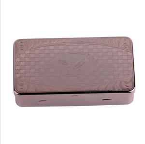 Novo anti derrapante, anti umidade, caixa de armazenamento de grama quadrada de aço inoxidável, gravura de alta qualidade e armazenamento de caixa de presente.