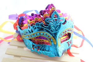 Máscara de mujer para hombre Máscaras de disfraces de Halloween Mardi Gras Venetian Dance Party Cara de oro brillante plateado Máscara