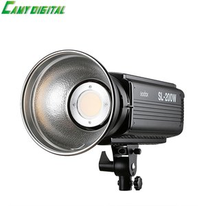 الجملة SL-200W 200W 5600K CRI 93+ 16 قنوات LED استوديو ضوء الفيديو المستمر مع Bowens جبل لكاميرا DSLR + التحكم عن بعد