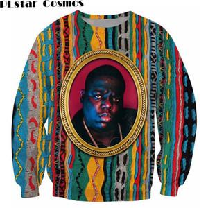 PLstar Cosmos Sweatshirt Tanınan B.I.G. Jumper Biggie Smalls Karakter baskı Terlemeleri Moda Giyim Kadın Erkek Kazak