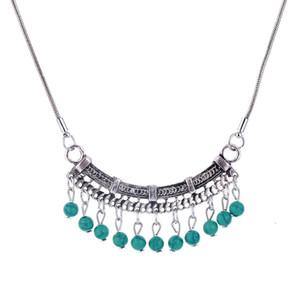Heiß! Wasser Wave Kette mit Quaste Türkis Pandent Halskette Böhmen rot / grün Farbe Türkis Halskette Demon868