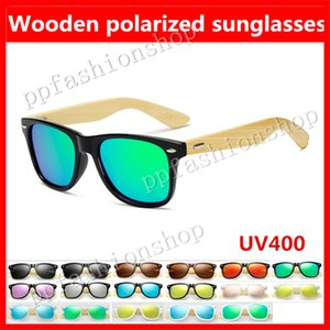 Nouveau en bois lunettes de soleil polarisées bambou jambes mode lunettes de soleil en plein air lunettes de qualité hommes et femmes lunettes de soleil 17 couleur en option