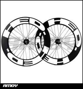 Spedizione gratuita 25mm larghezza vernice HED 88mm Profondità fissa ingranaggi in carbonio wheelset full carbon 700C strada pista ruote di bicicletta della bici