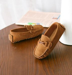 Nubuck Casual Shoes Shoes Cheap Leather Soft Sole Girl Boy Kids Brand Chinese Comfortable Children Doudou Shoe Akhtg
